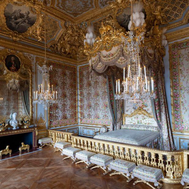 Версаль. Спальня королевы в главных аппартаментах королевы.